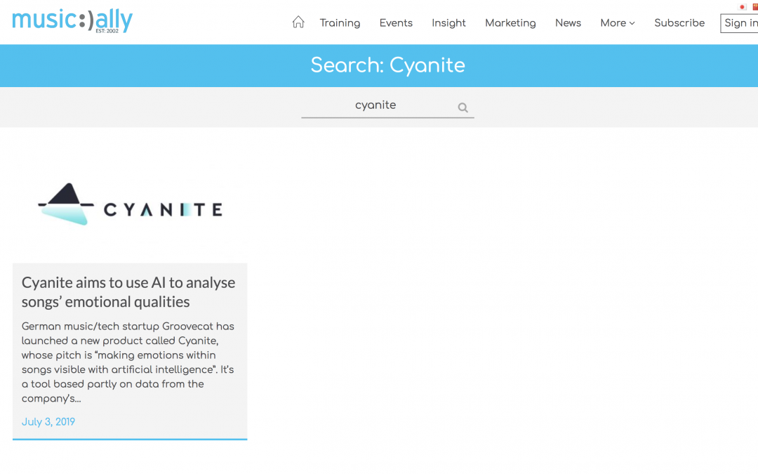 """Music Ally features: """"Cyanite aims to use AI to analyse songs' emotional qualities"""""""