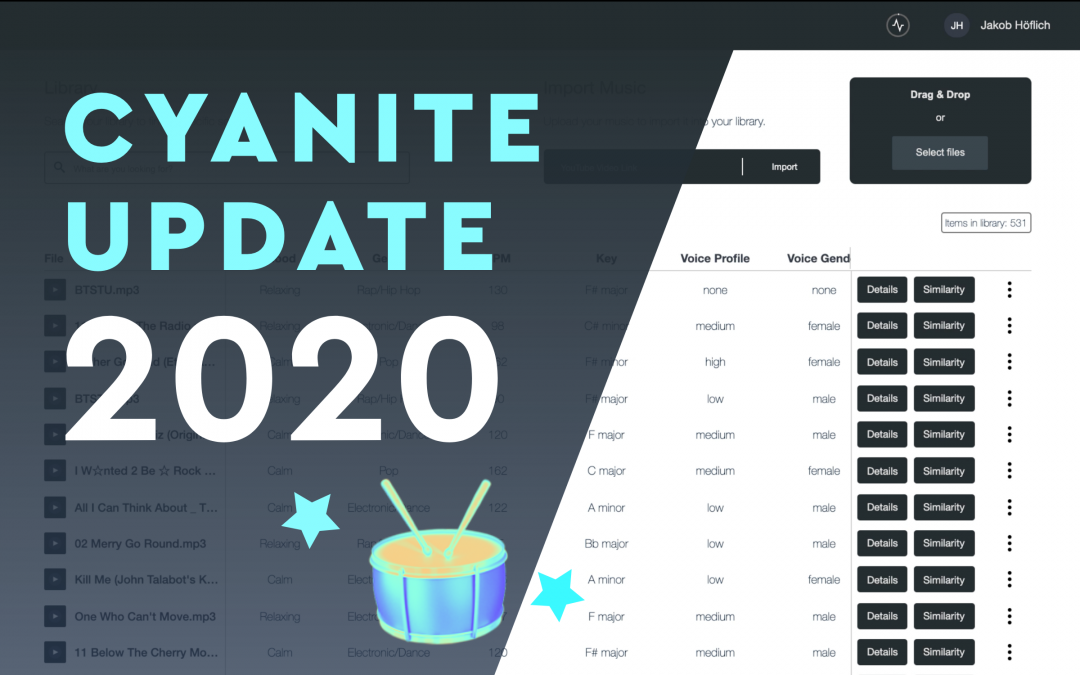 Cyanite Update 2020 🥁 The new Library and updated Similarity Search