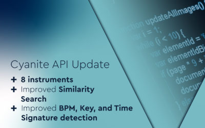 Cyanite API Update – New Instruments and More