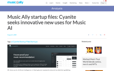 Music Ally Startup Files with Cyanite