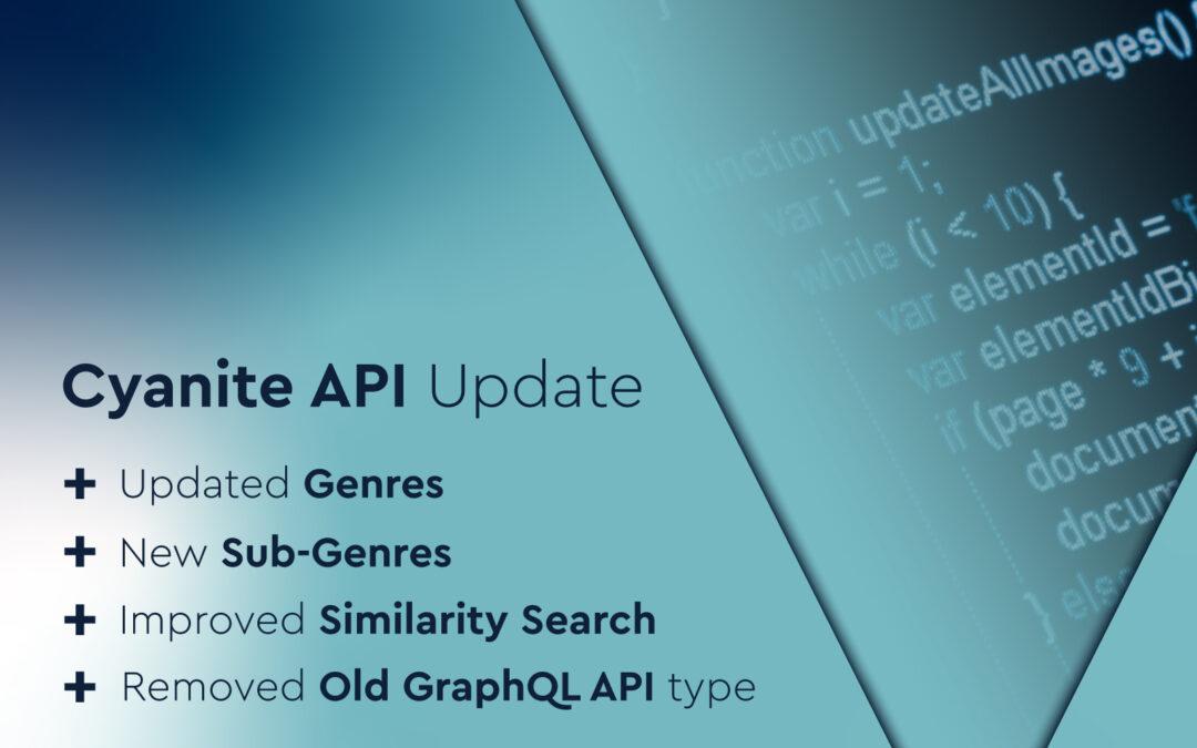 Cyanite API Update – New Sub-Genres and More